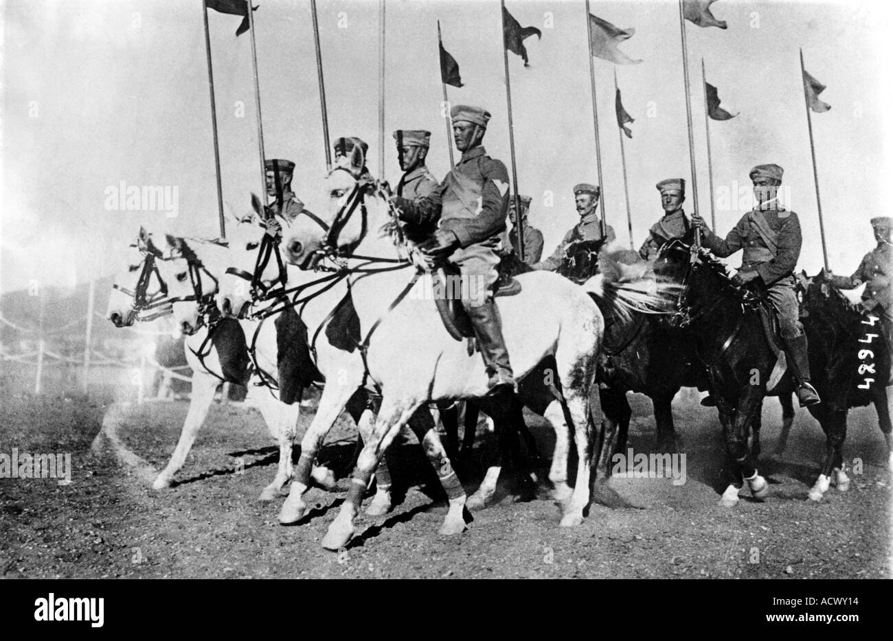 WWI German cavalry in German East African during World War One - Stock Image