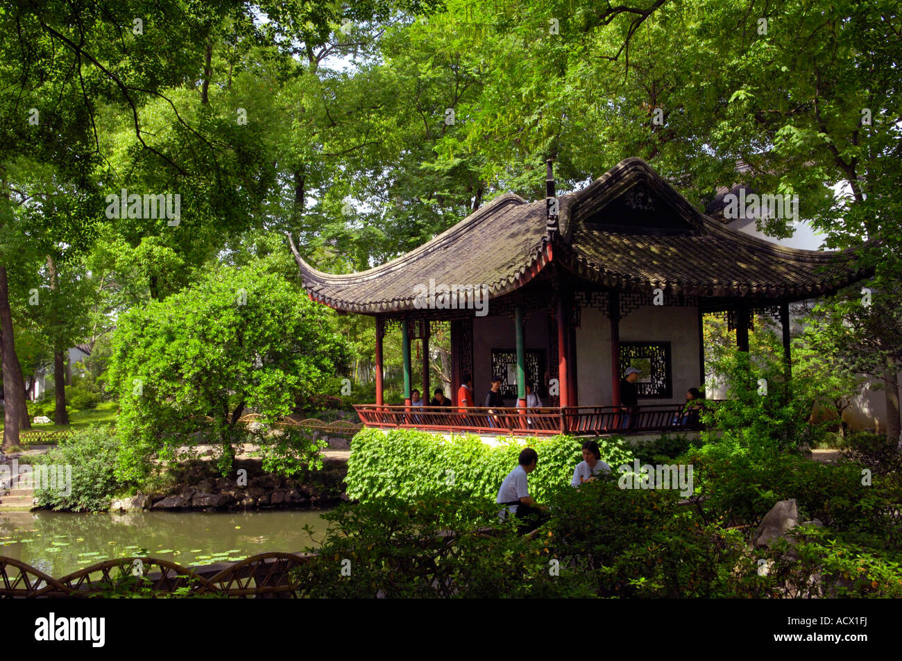 The Humble Administrators Garden In Suzhou China Stock Photo