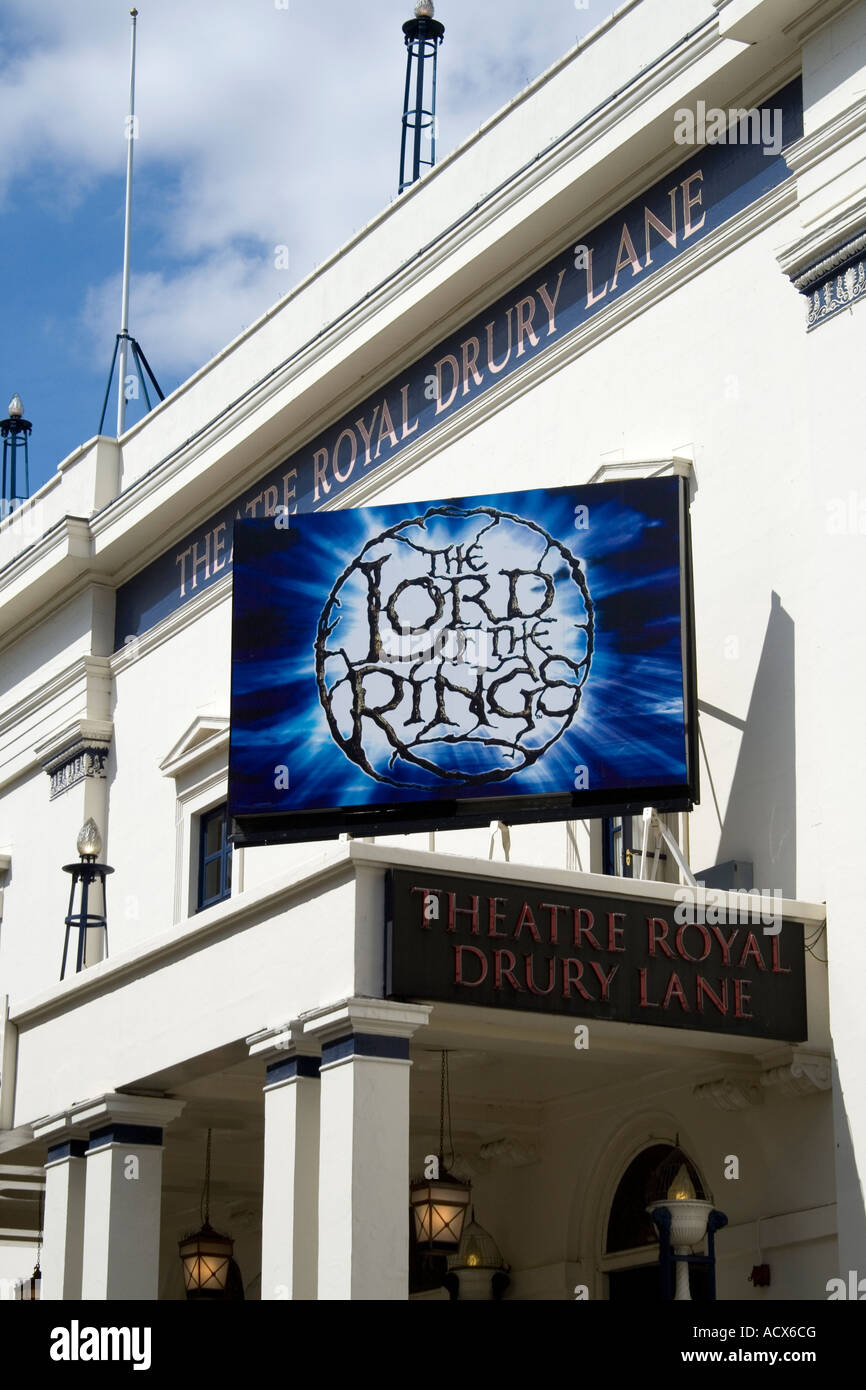 The Lord of the Rings Drury Lane Theatre London England - Stock Image