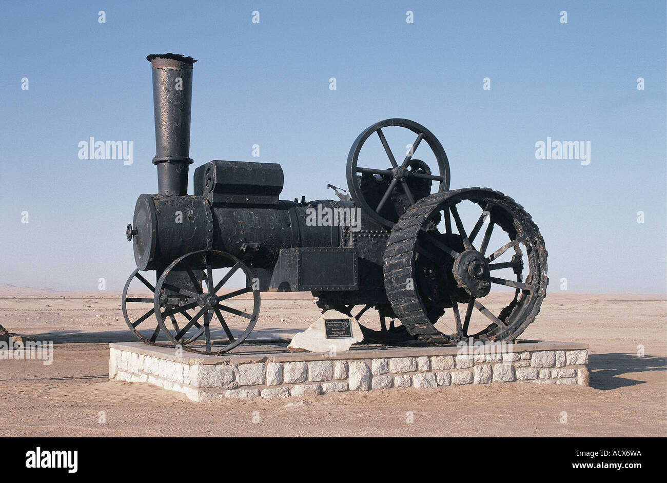 Old 1896 Steam Traction Engine known as Martin Luther abandoned on the outskirts of Swakopmund Namibia south west Africa - Stock Image