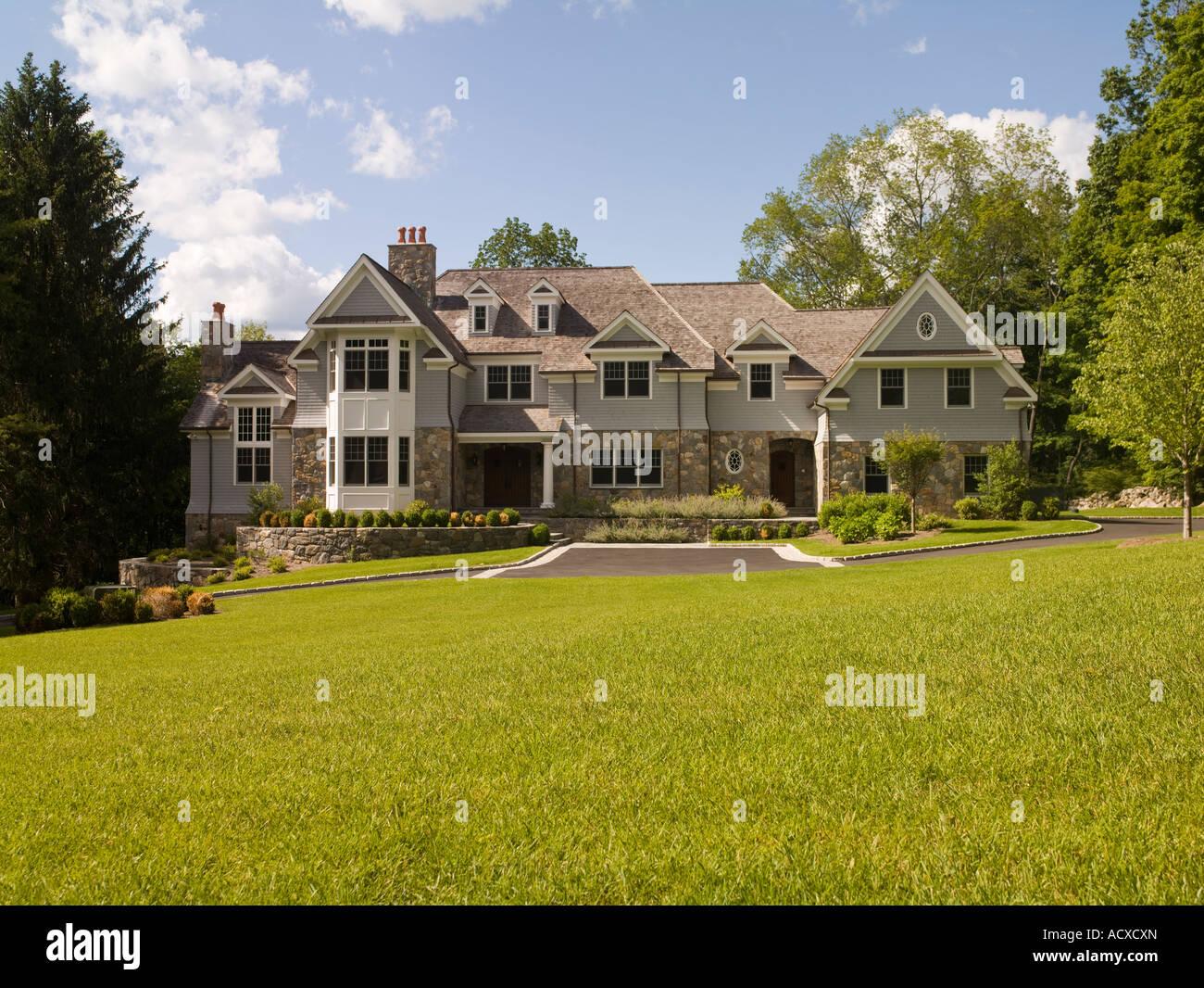 modern large luxury house, USA - Stock Image