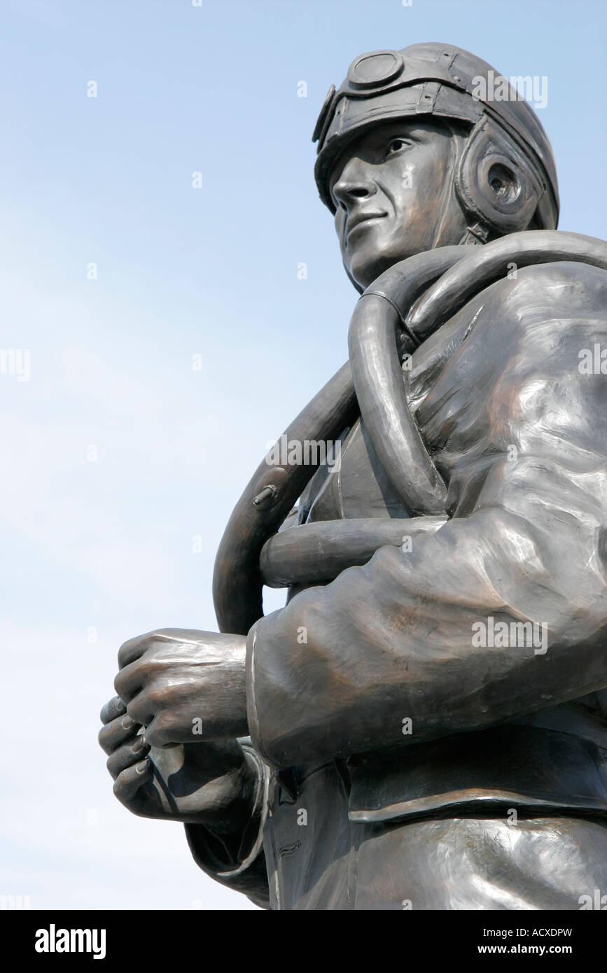 Virginia, VA, South, Tidewater Area, Virginia Beach, 24th Street Park, Naval Aviation Monument, statue, military Stock Photo