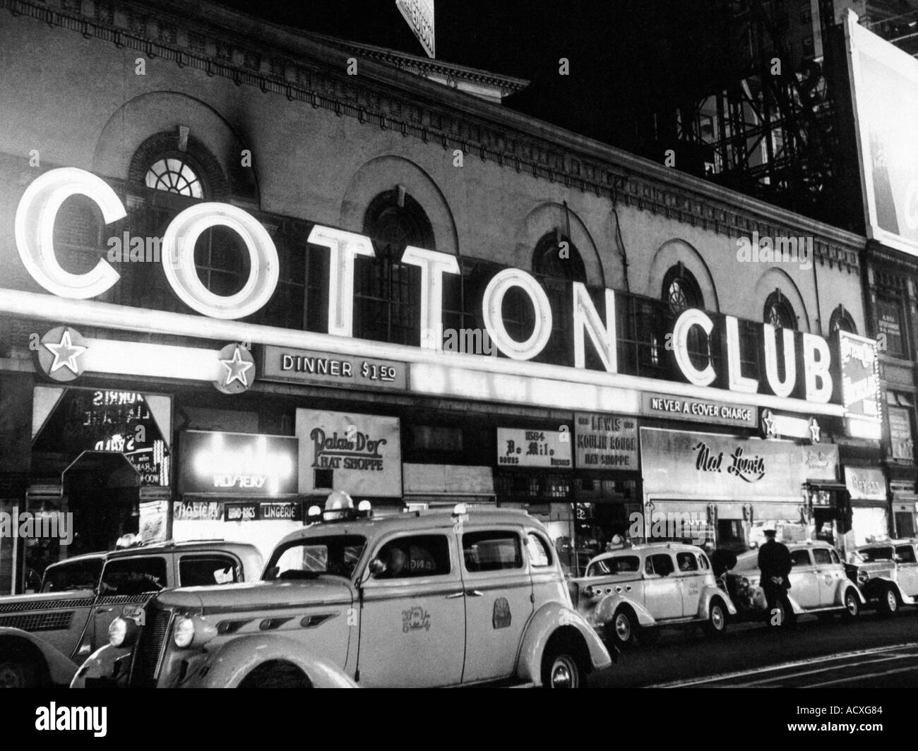 COTTON CLUB in New York s Harlem at 42nd Street and Lennox Avenue was a top dinner club in the 1930s and 40s where many famous a - Stock Image