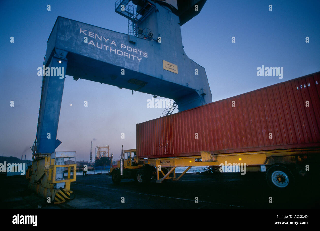 Entrance to Mombassa Container Ports Kenya Stock Photo