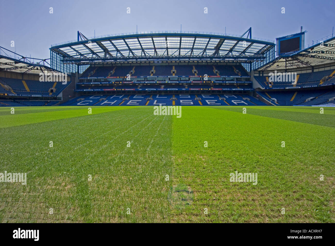 Chelsea football club stand - Stock Image