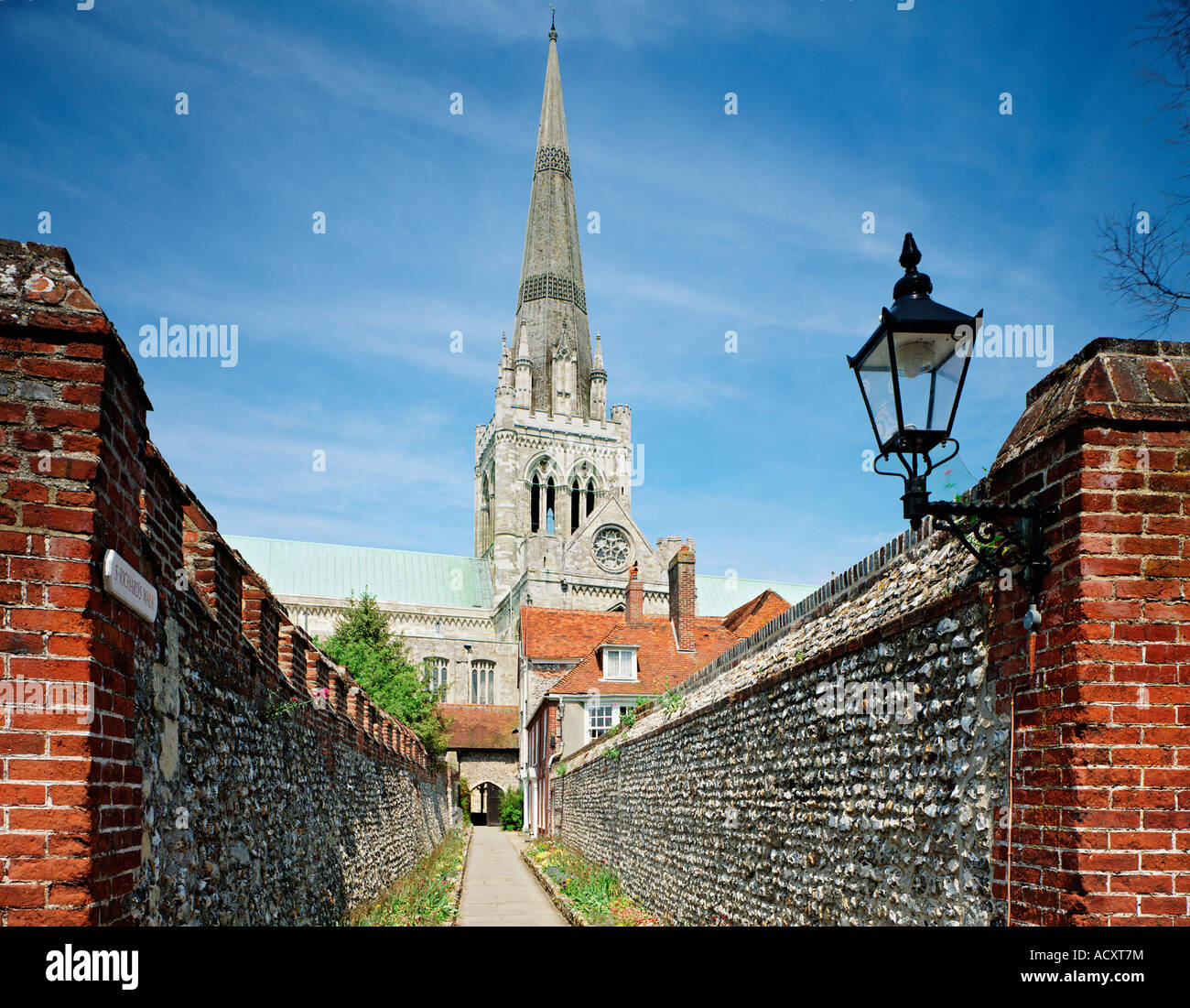GB WEST SUSSEX CHICHESTER CATHEDRAL ST RICHARD S WALK - Stock Image