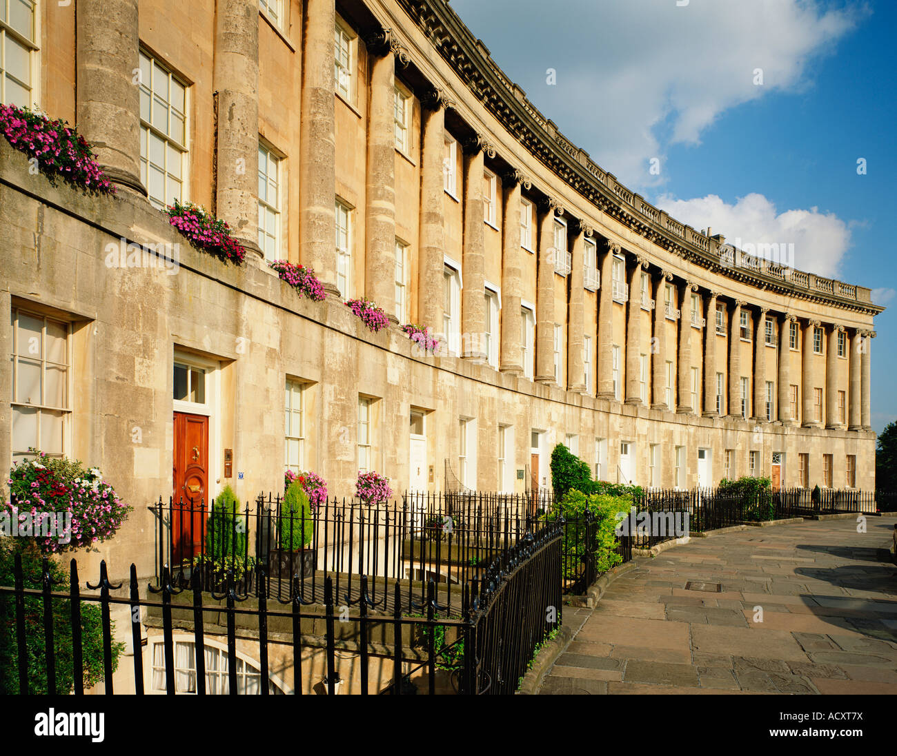 GB SOMERSET BATH ROYAL CRESCENT - Stock Image