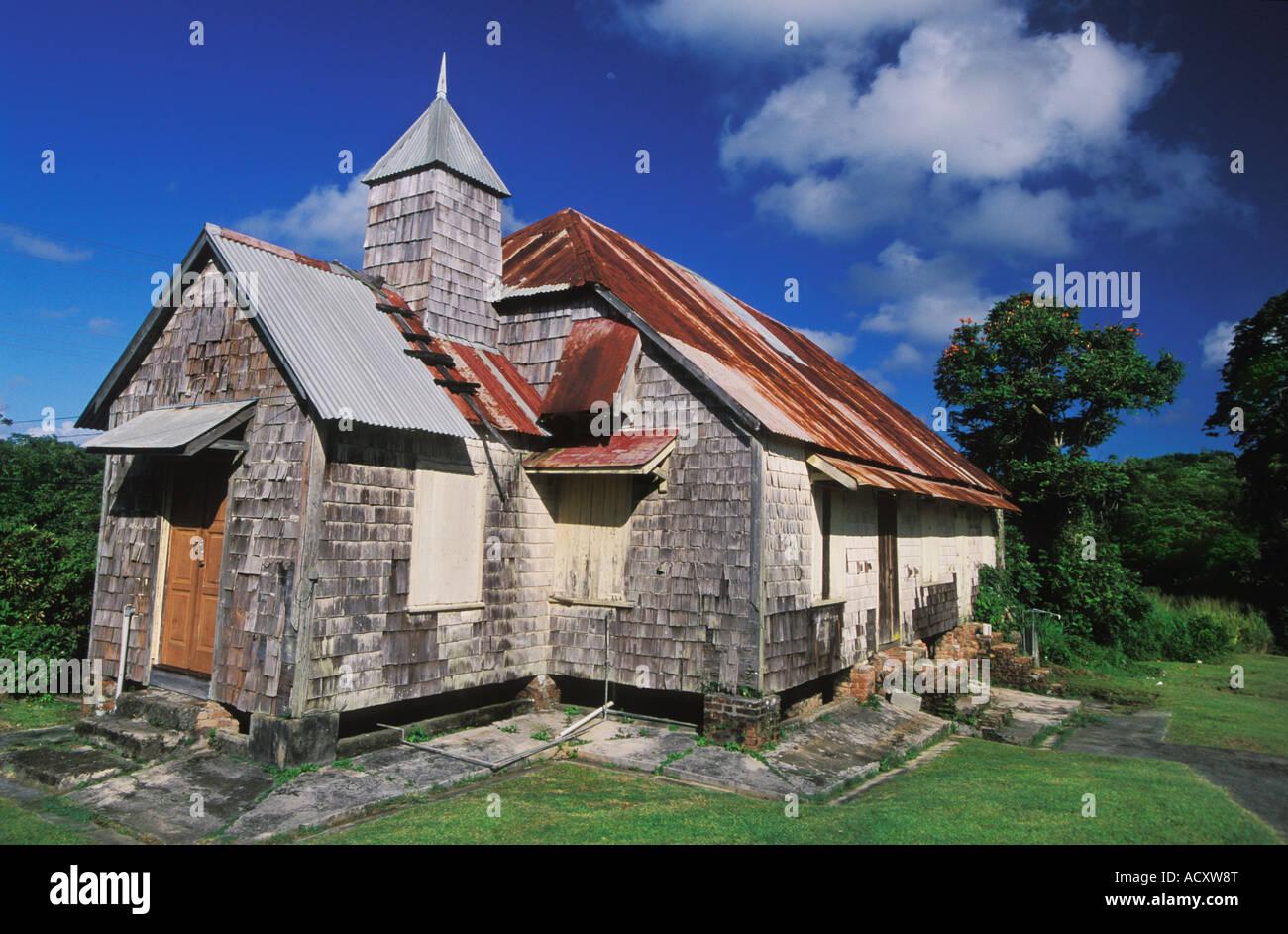 Moravian Church in Scarborough in Tobago - Stock Image