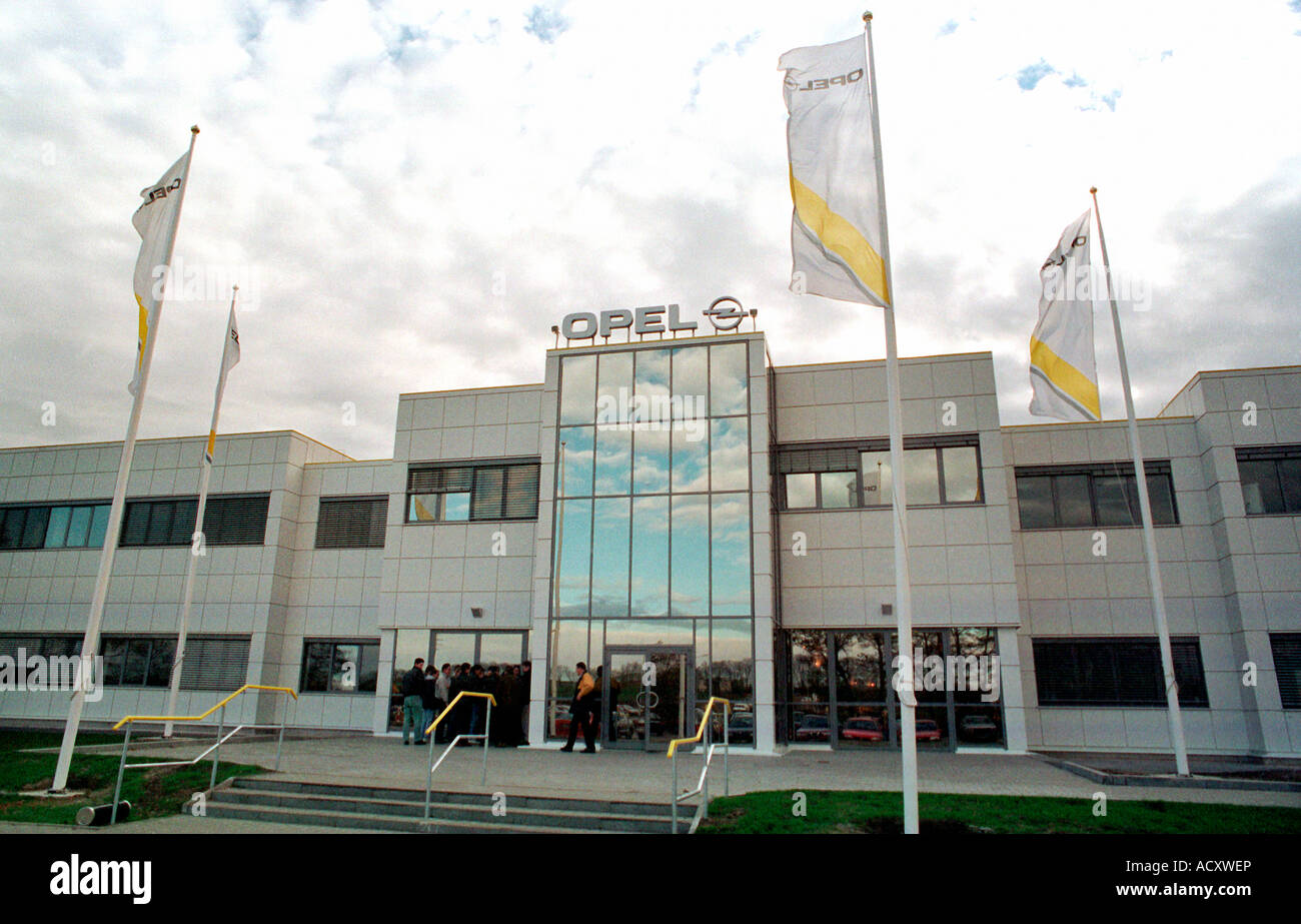 The building of the Opel factory in Gliwice, Poland - Stock Image