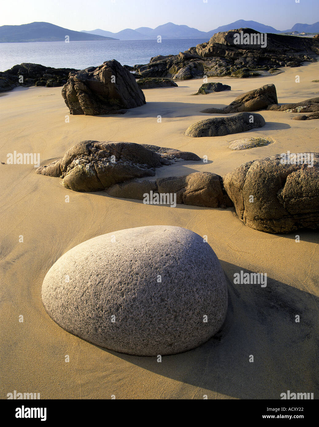 GB -  SCOTLAND: Luskentyre Sands at Seilebost on the Isle of Harris in the Outer Hebrides - Stock Image
