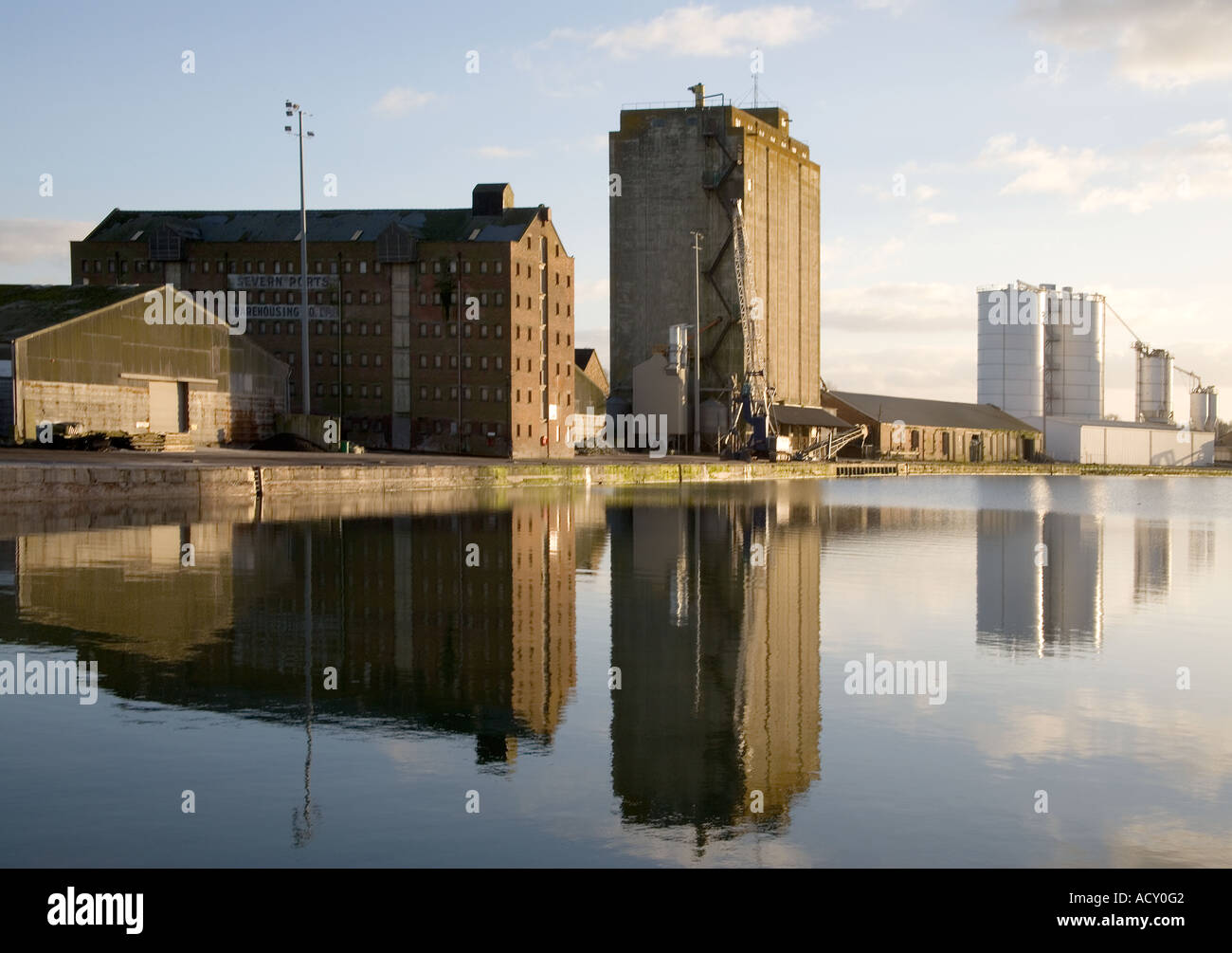 sharpness docks gloucestershire - Stock Image