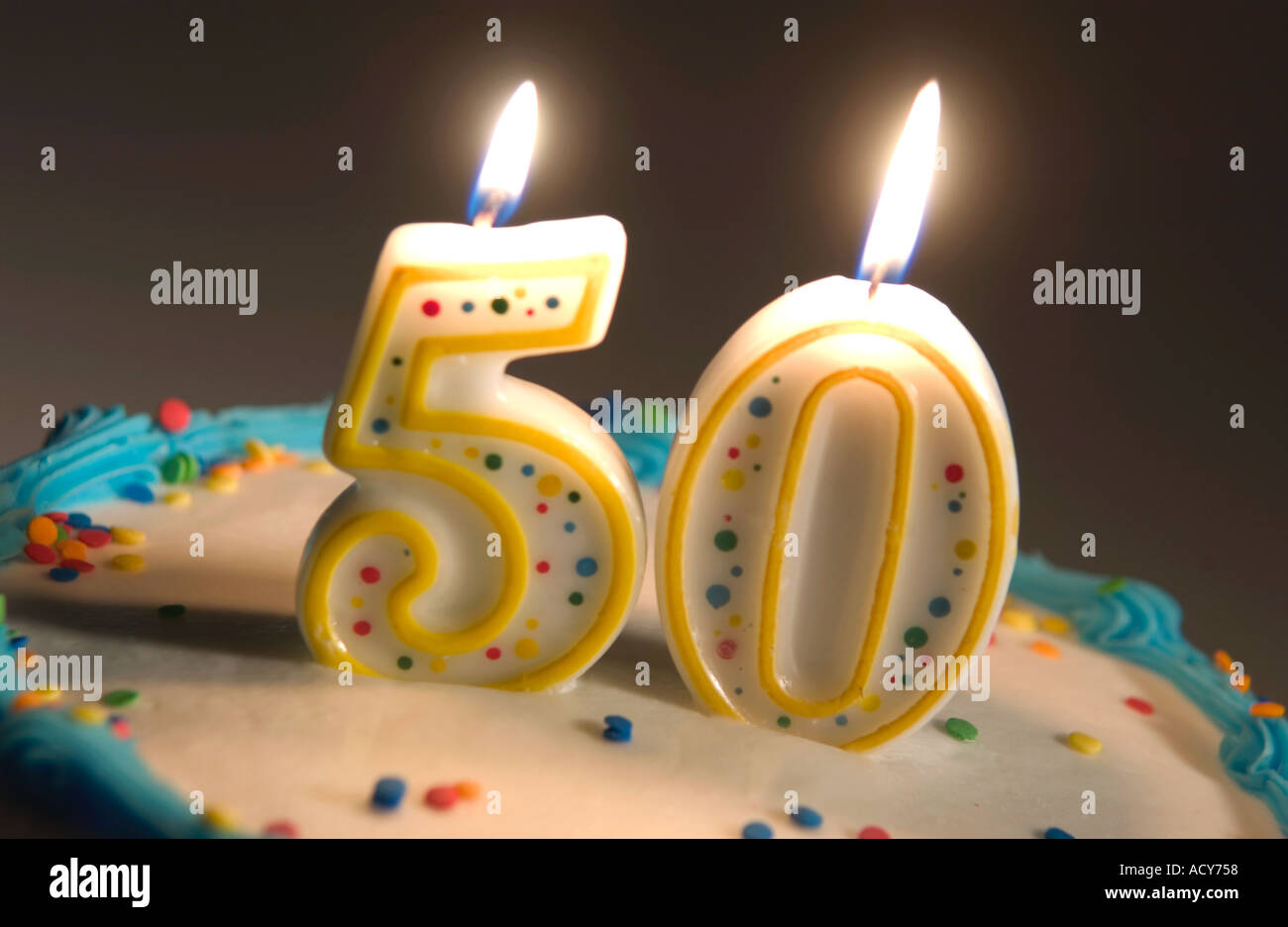 50th Birthday Cake Stock Photo 2471767