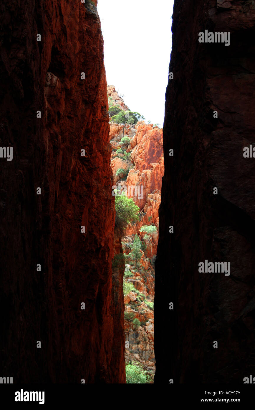 Graphic picture of rocks chasm - Stock Image