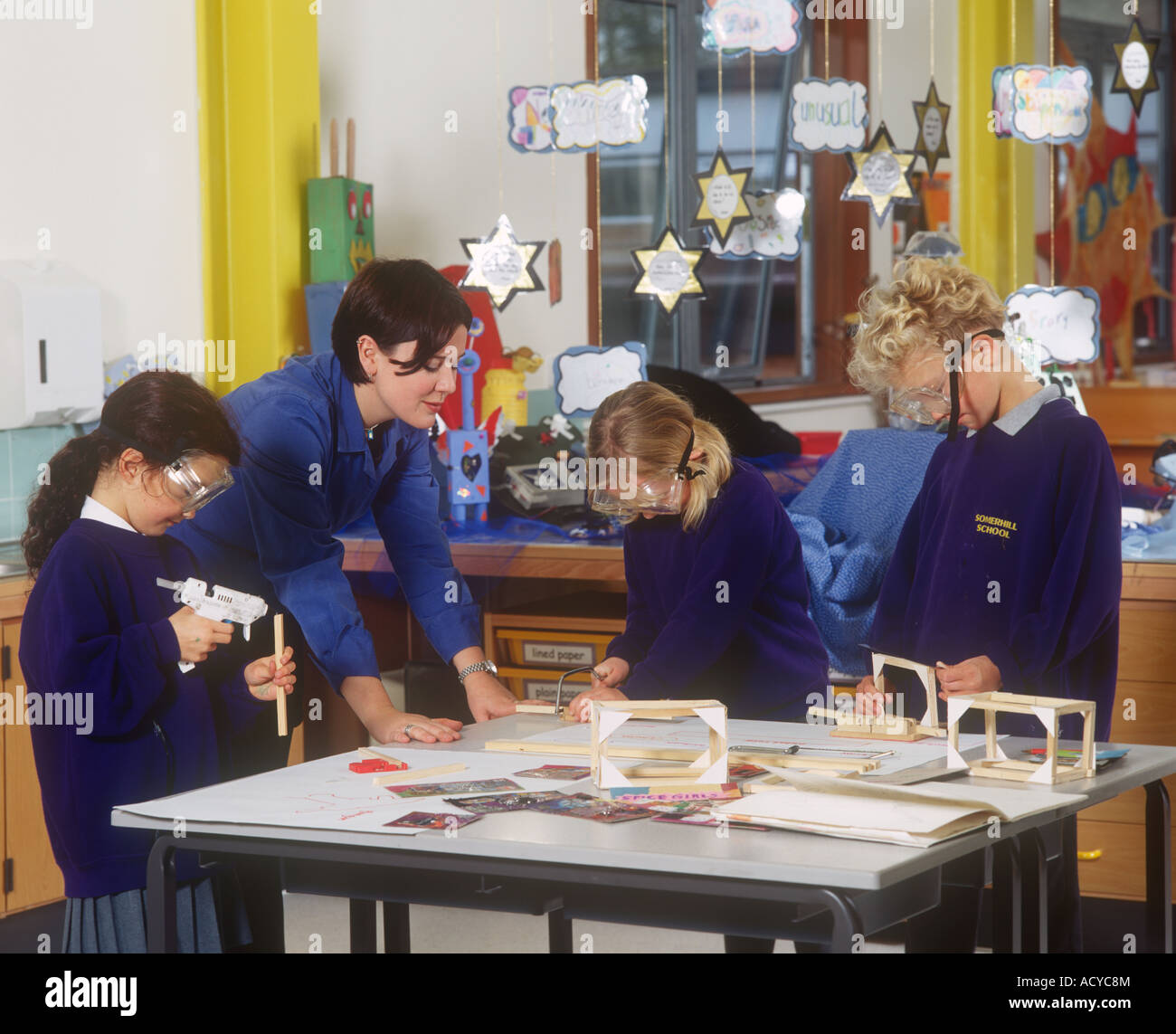 Craft Design Technology Class High School England Stock Photo
