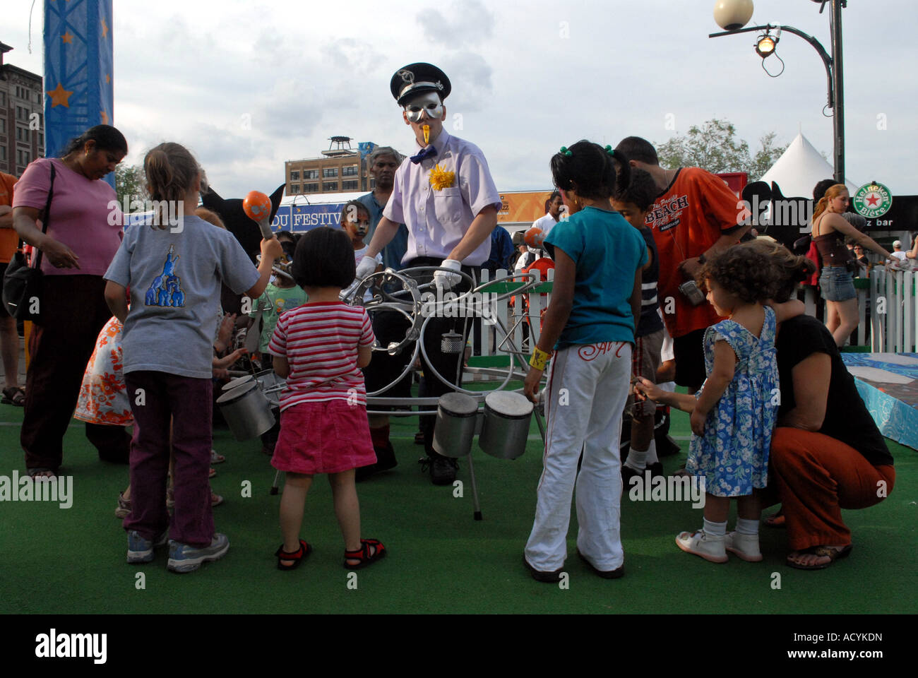 International Jazz Festival of Montreal Playground created for kids to teach them music - Stock Image