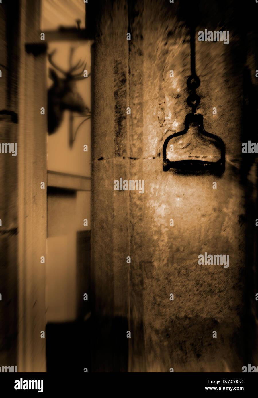 old antique doorbell pull - Old Antique Doorbell Pull Stock Photo: 7575701 - Alamy