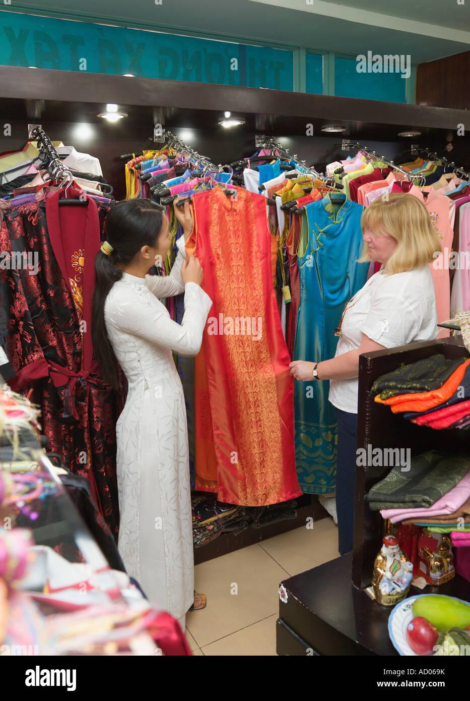 fd25e9463ac92 Woman customer shopping for clothes in 'Saigon Tax Trade Centre' 'Ho Chi  Minh