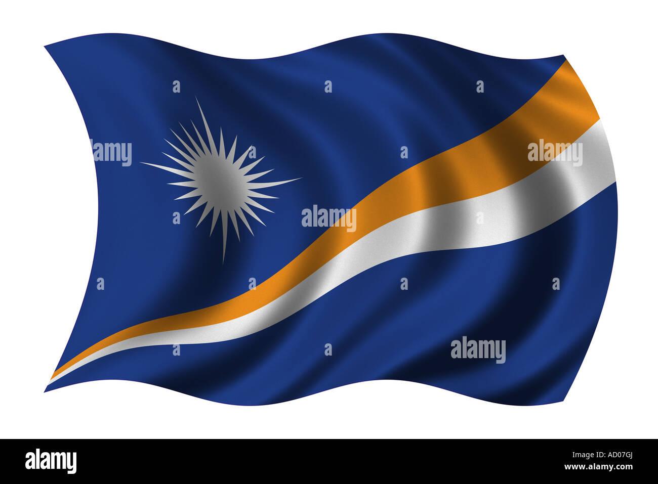 Flag of the Marshall Islands - Stock Image