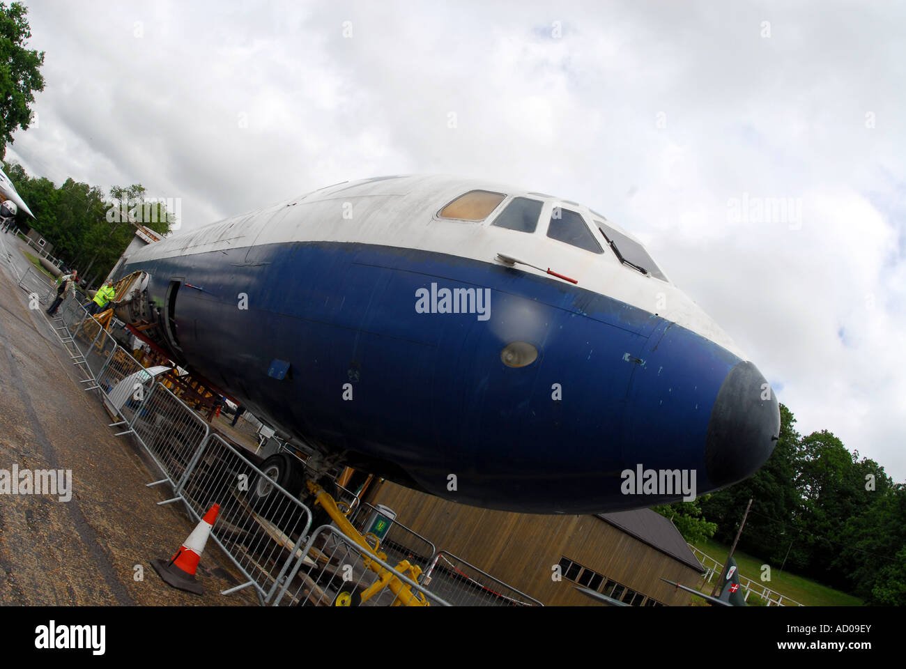 Vickers VC10 fuselage at Brooklands museum - No wings - Stock Image