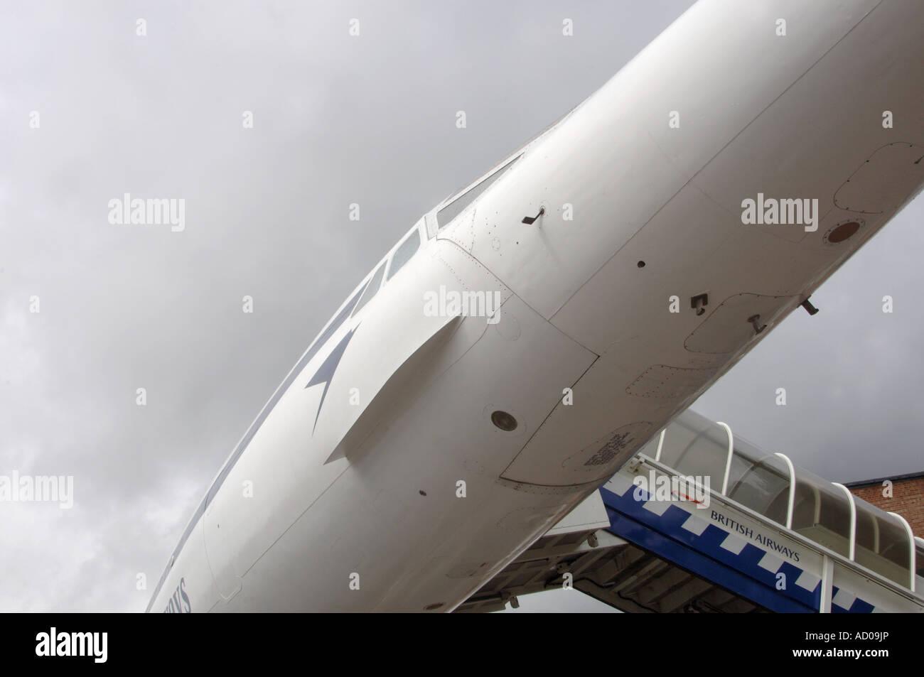 Concorde cockpit windows - Stock Image