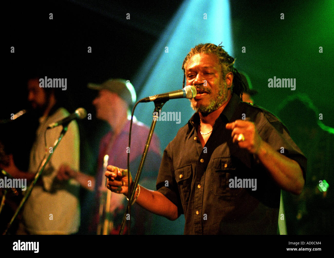 Horace Andy, reggae musician, in concert, Buttermarket, Shrewsbury, UK 2004. - Stock Image