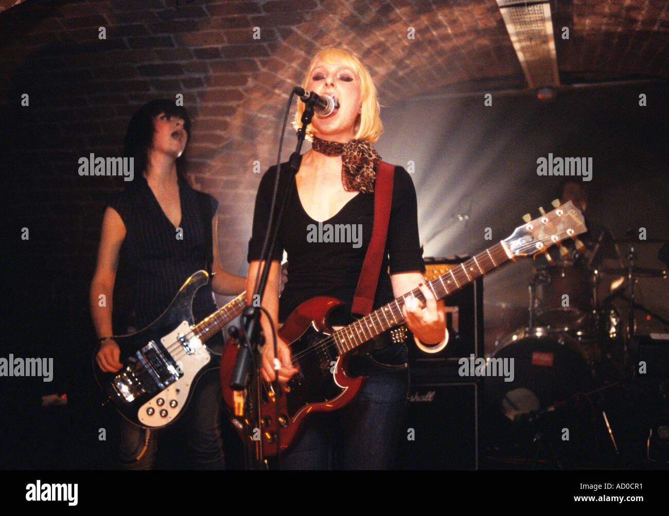 'We Start Fires', rock band, performing 2006, Shrewsbury, The Buttermarket, UK, 2005 - Stock Image