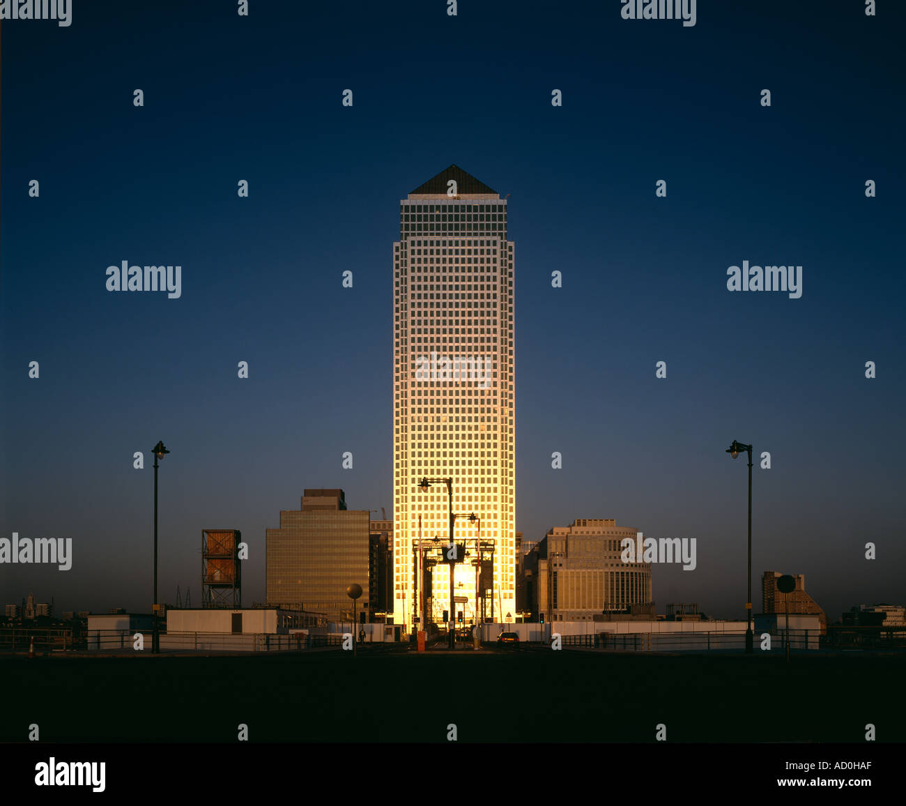 Canary Wharf, Docklands, London. Architect: Cesar Pelli - Stock Image