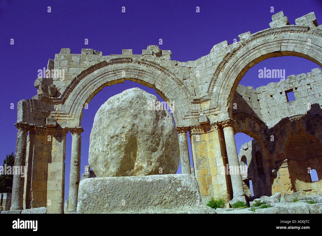 Qala'at Samaan - Aleppo, SYRIA - Stock Image