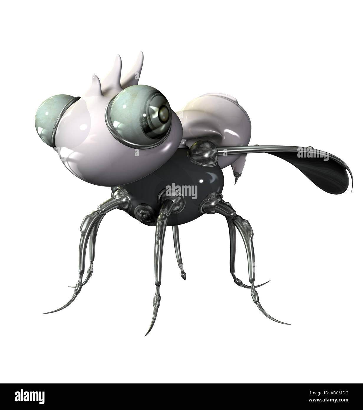 bug as symbol for errors in hardware and software - Stock Image