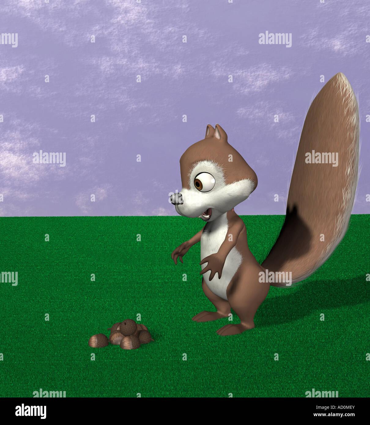 Squirrel - Stock Image