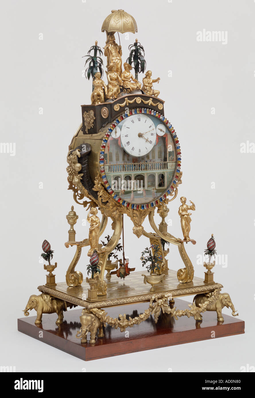 Clock by William Carpenter. London, England, late 18th century. - Stock Image