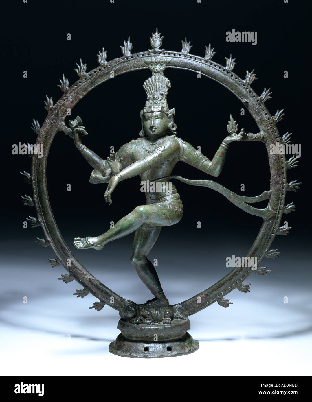 Shiva Nataraja, Lord of the Dance. Tamil Nadu, India, 12th century. - Stock Image