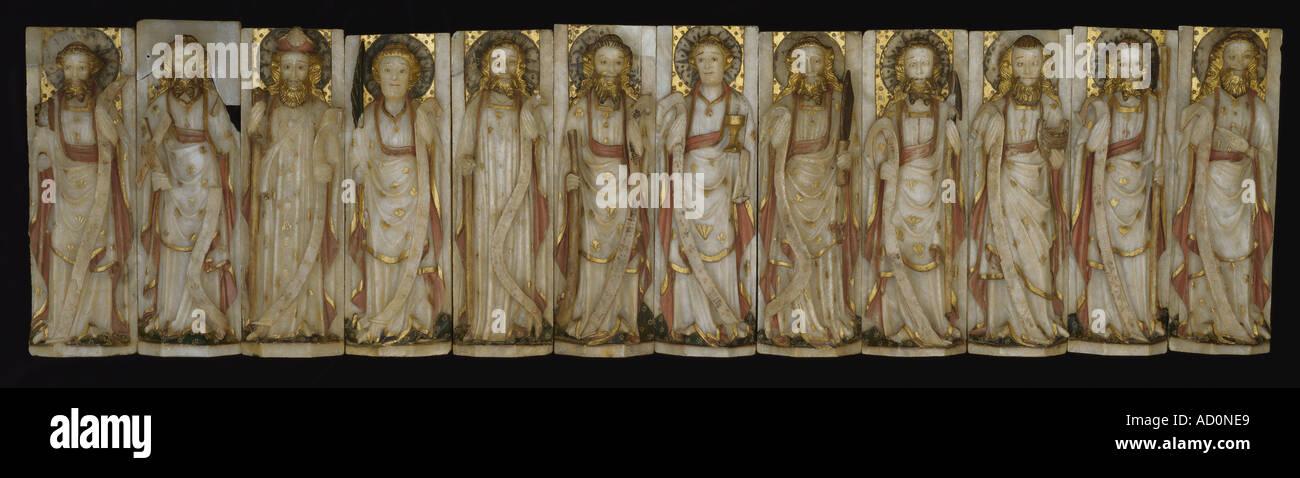 The twelve apostles. England, mid 15th century. - Stock Image