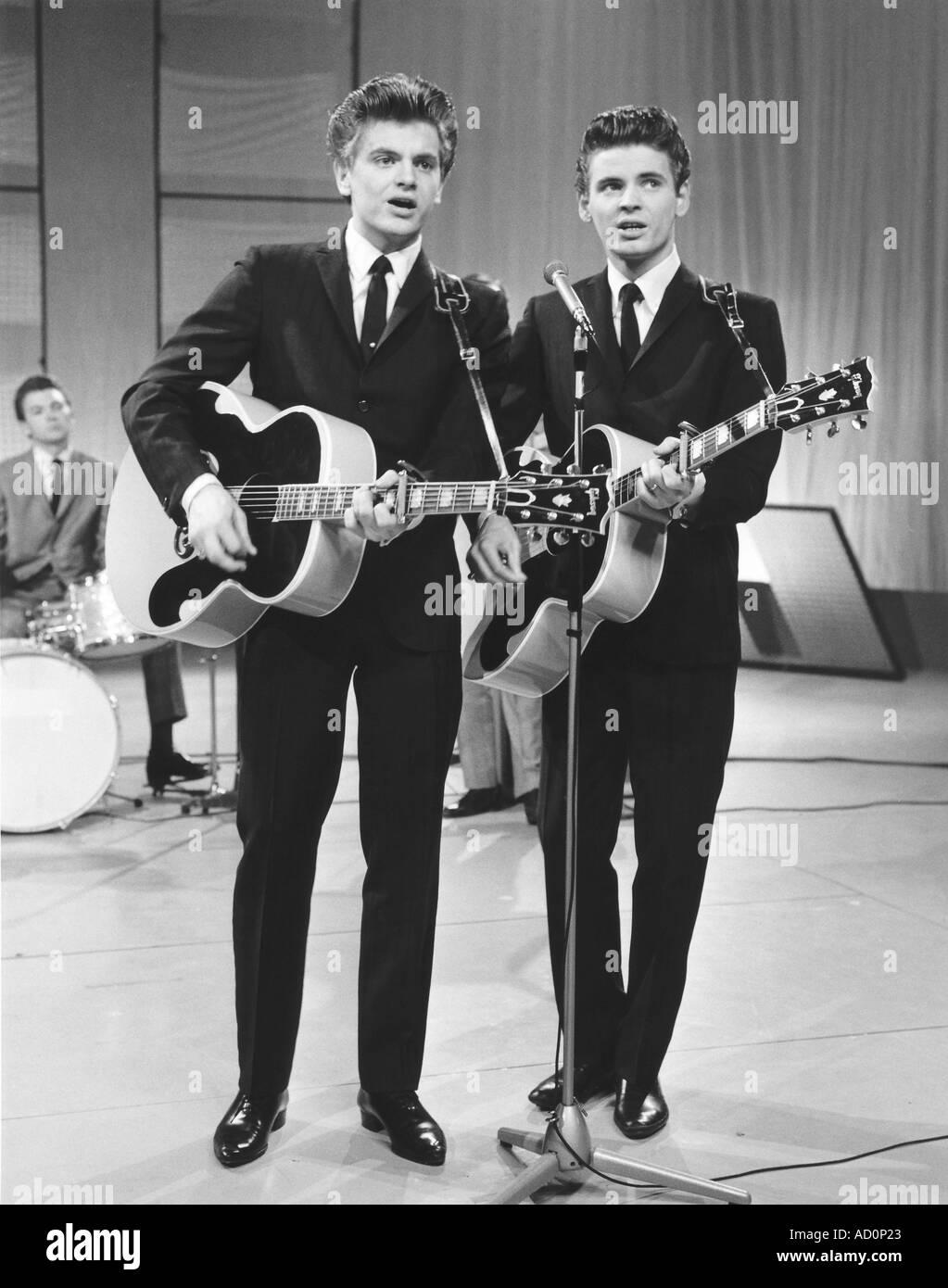 Everly Brothers. Photo by Harry Hammond. UK, 1961-63 - Stock Image