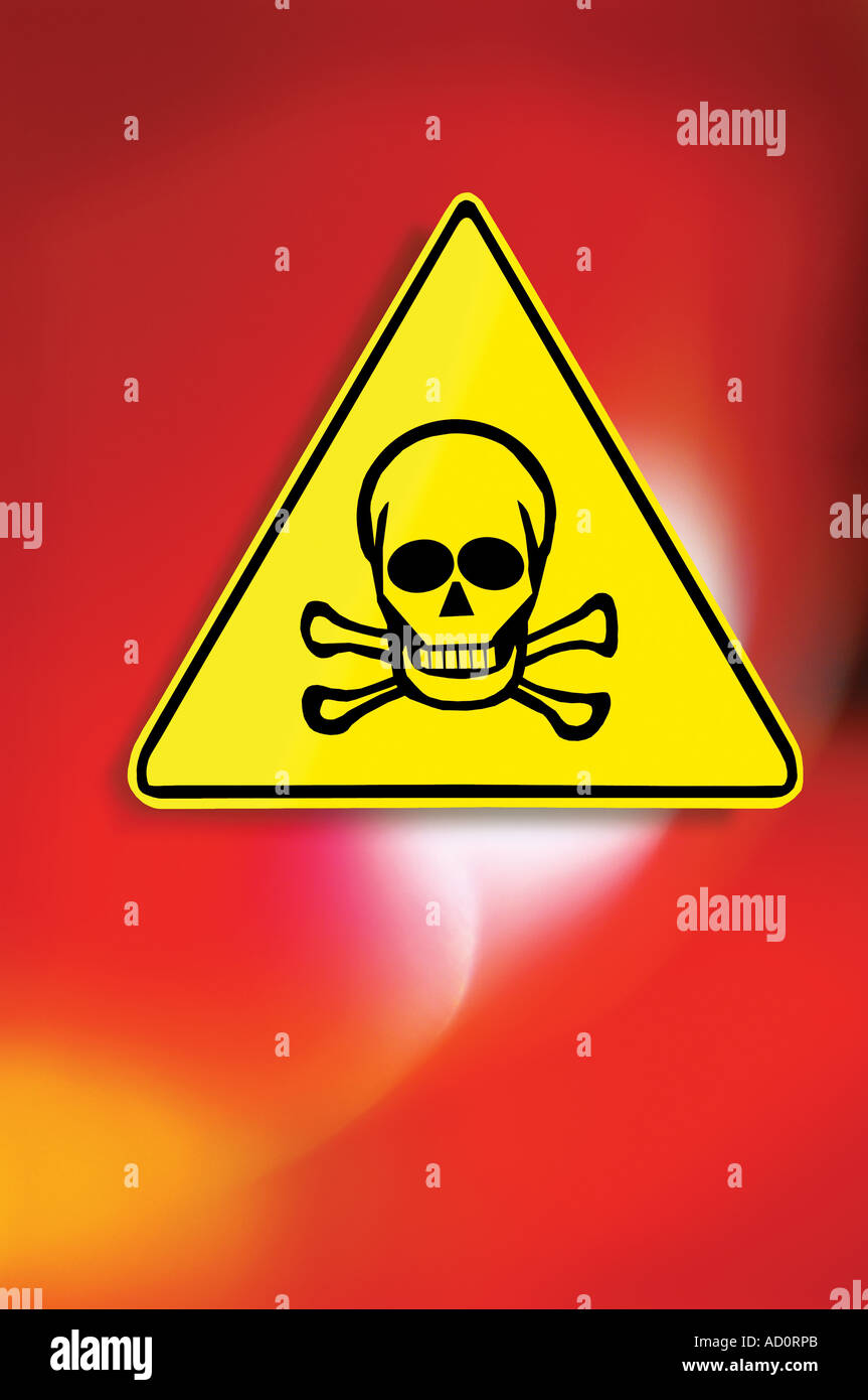 Toxic symbol stock photos toxic symbol stock images alamy scull crossbones danger warning symbol stock image altavistaventures Images