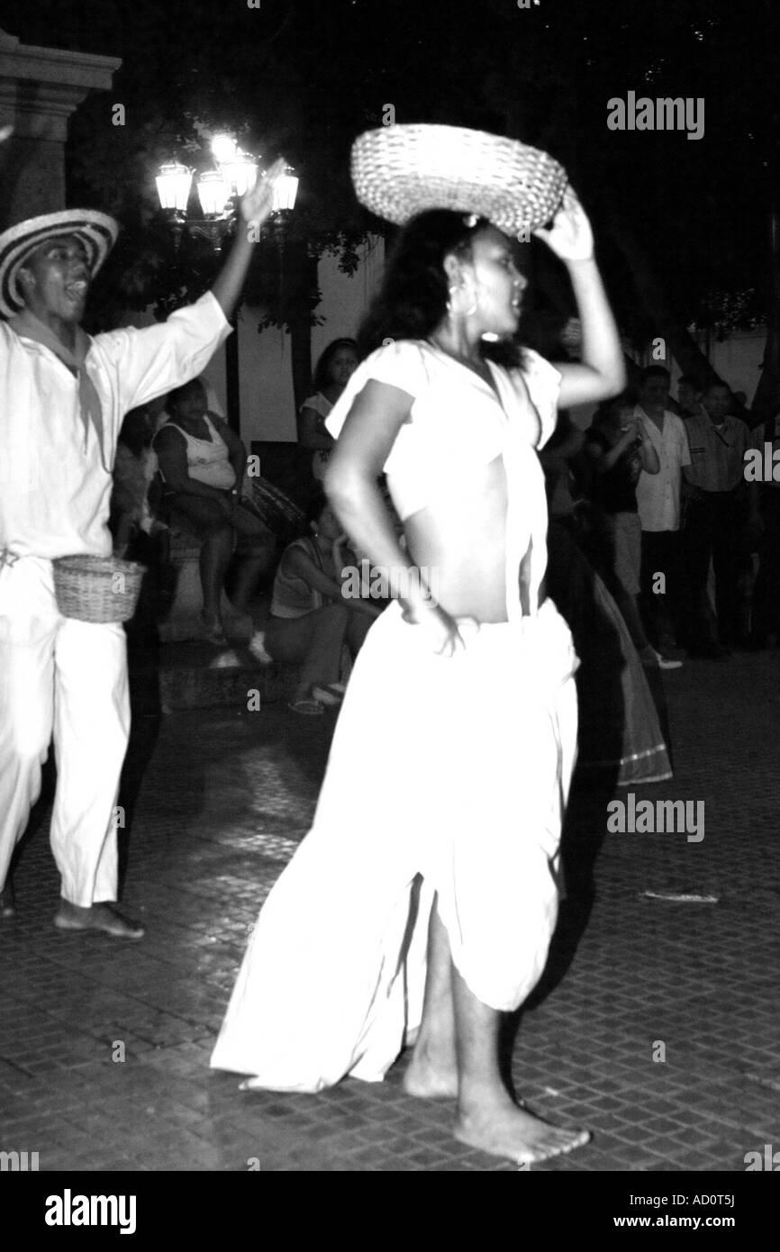 traditional dancer, Cartagena de Indias, Bolivar, Colombia, South America, caribbean - Stock Image