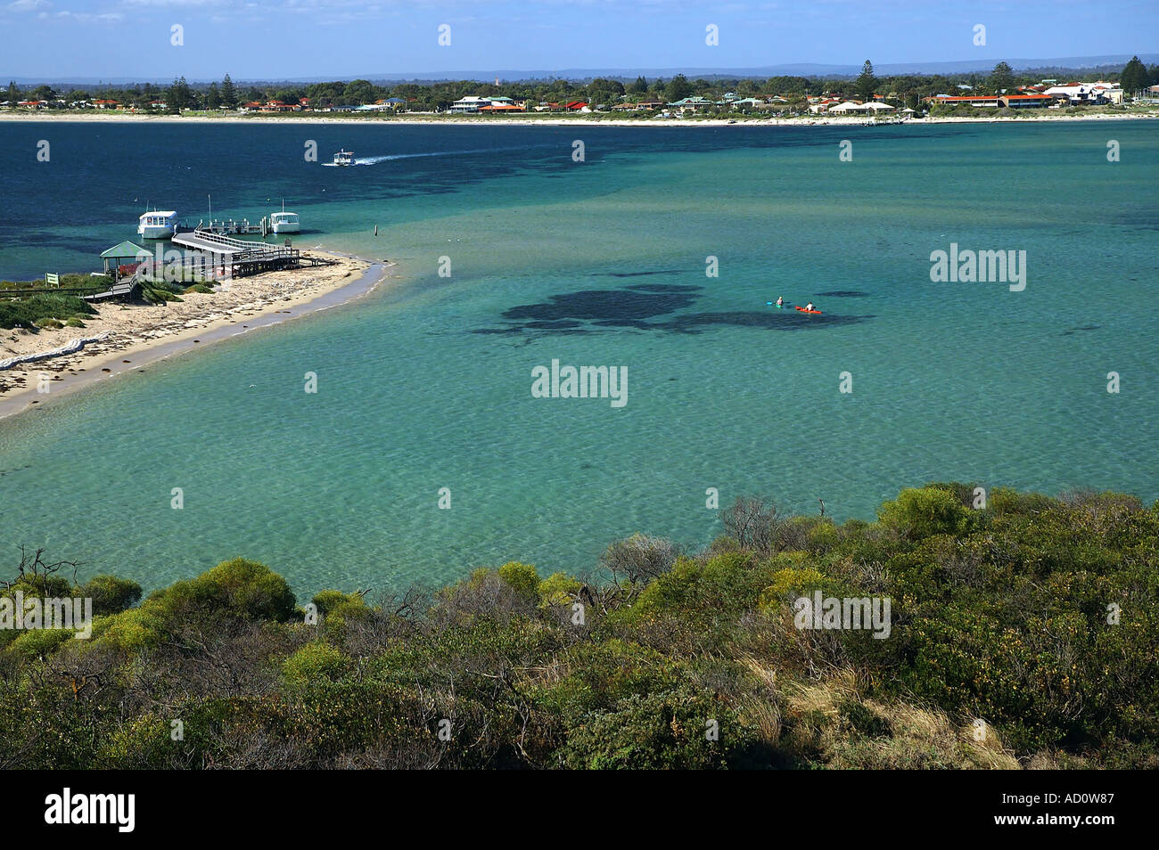 South Beach of Penguin Island Shoalwater Islands Marine Park off Rockingham Western Australia Stock Photo
