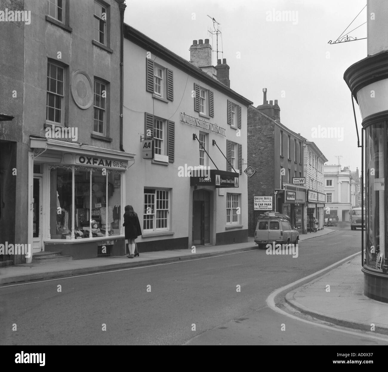 Queens Head Tavistock Devon 1974 in 6x6 number 0058 - Stock Image