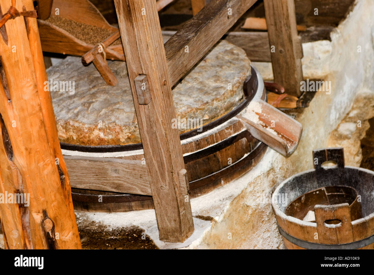 Water Powered Grinding Stone Flour Ols Spanish Mission In San Antonio Texas
