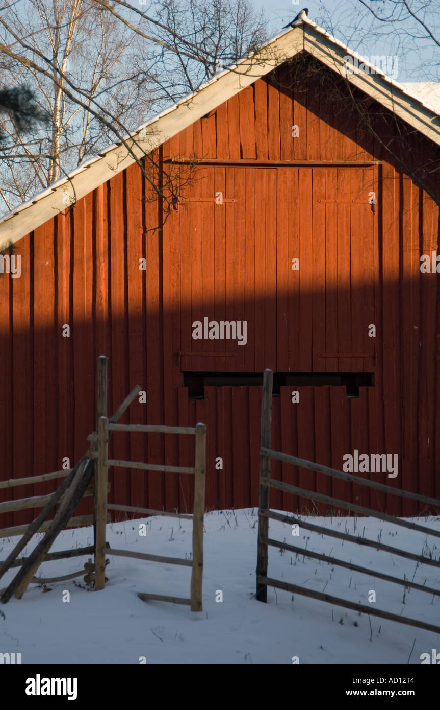 6373f1aa Traditional clap-board barn building at the Norsk Folkesmuseum on Bygdoy,  Oslo, Norway