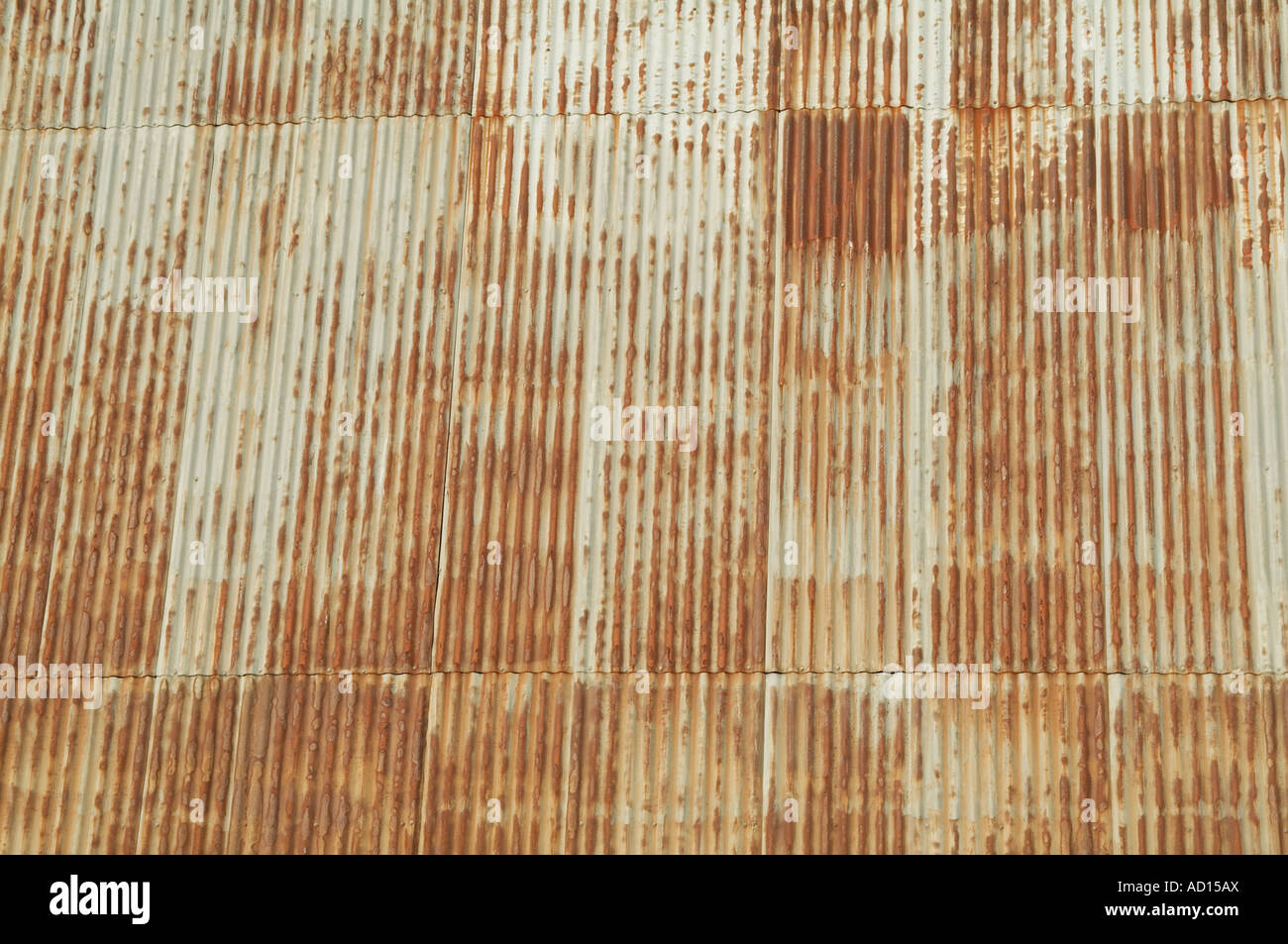 Corrugated Tin Metal Steel Building Roof Rusty