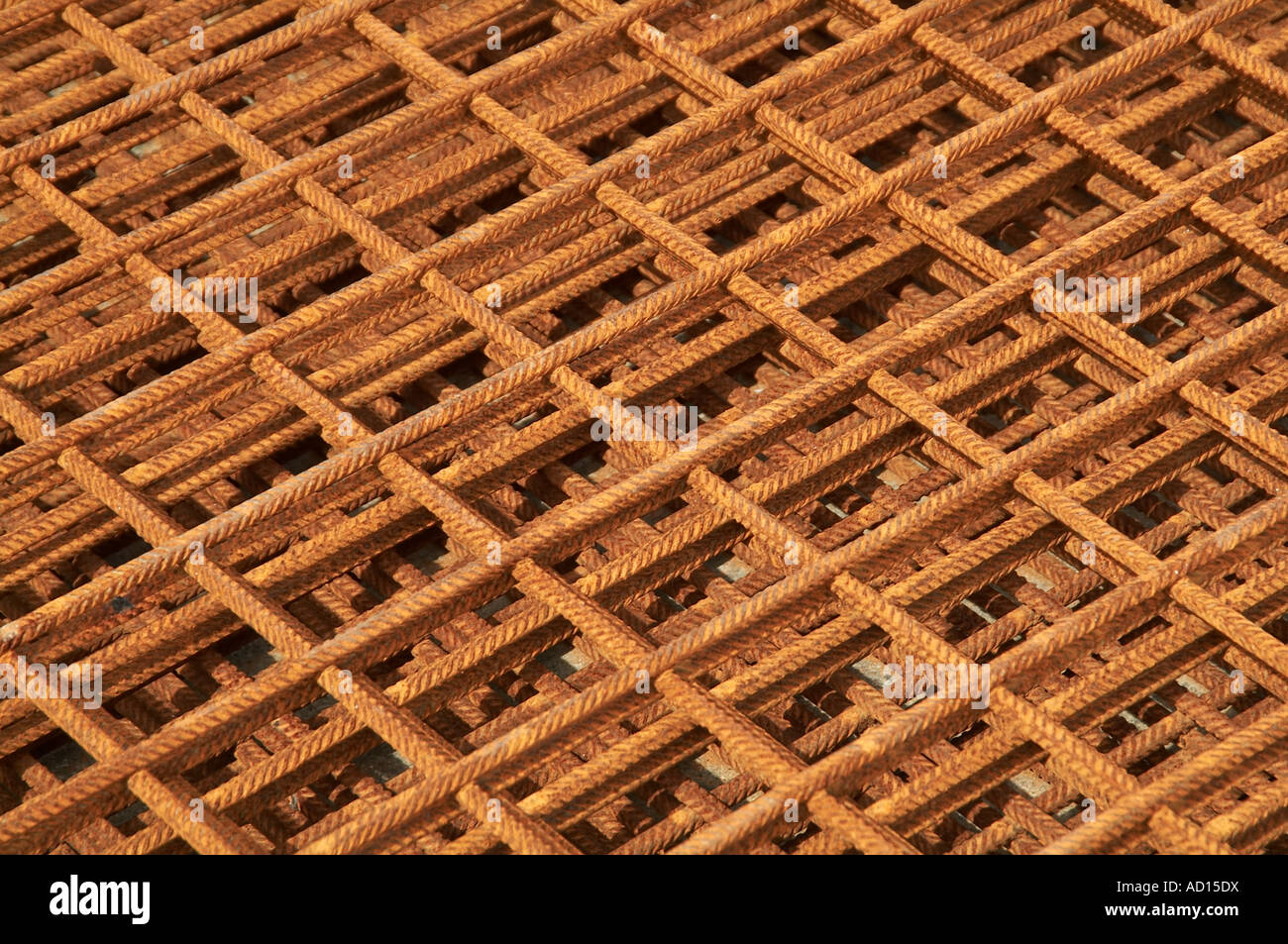 Reinforced, concrete, steel, rebar, construction, materials, building, slab, floor, - Stock Image