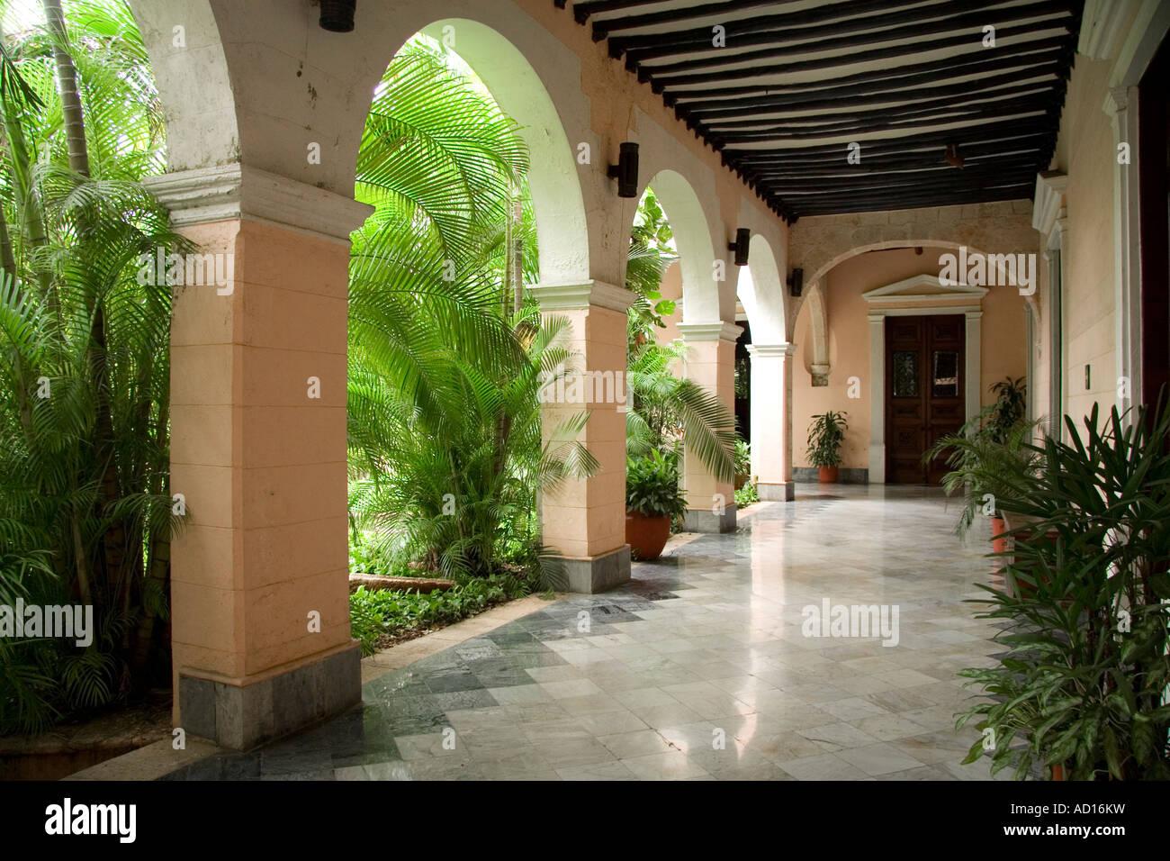 Casa de Montejo, Merida, Yucatan, Mexico Stock Photo