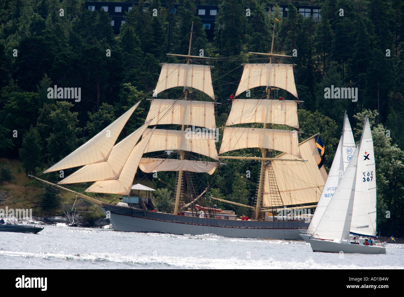 Tall ships race Stockholm 2007 - Stock Image