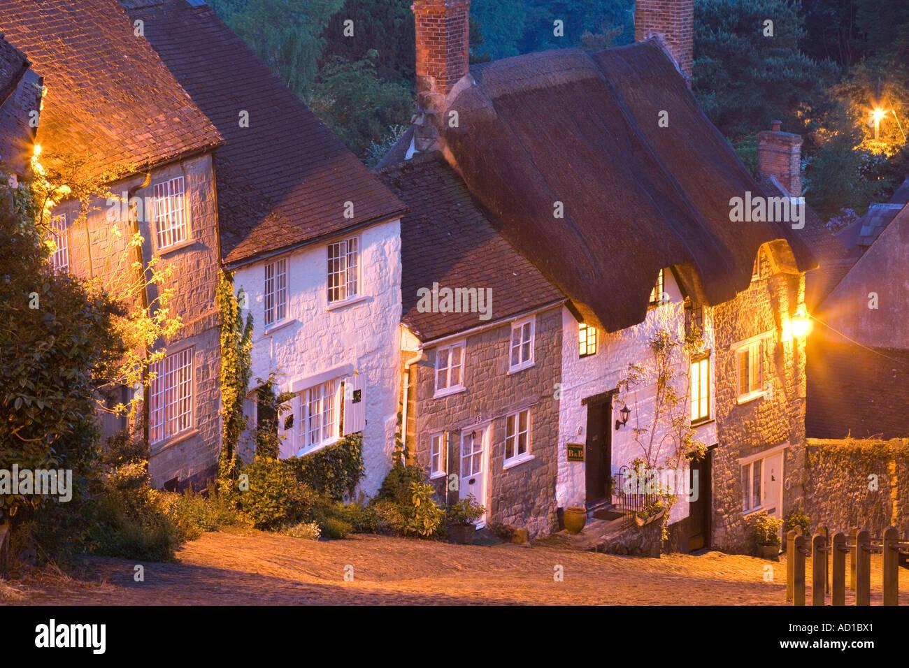 Gold Hill, Shaftesbury, Dorset, England, UK - Stock Image