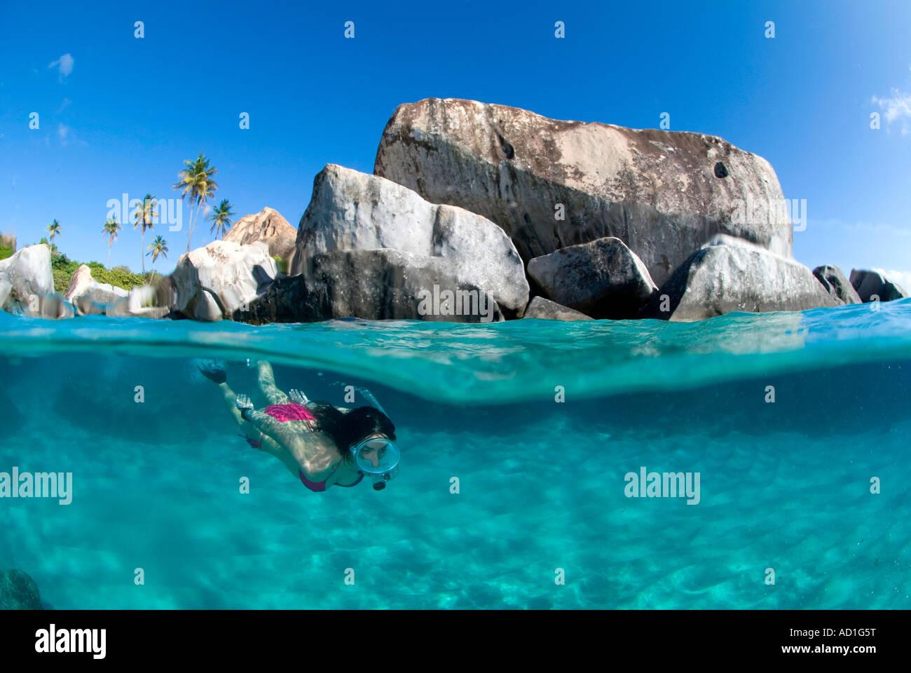 Snorkeling The Baths British Virgin Islands