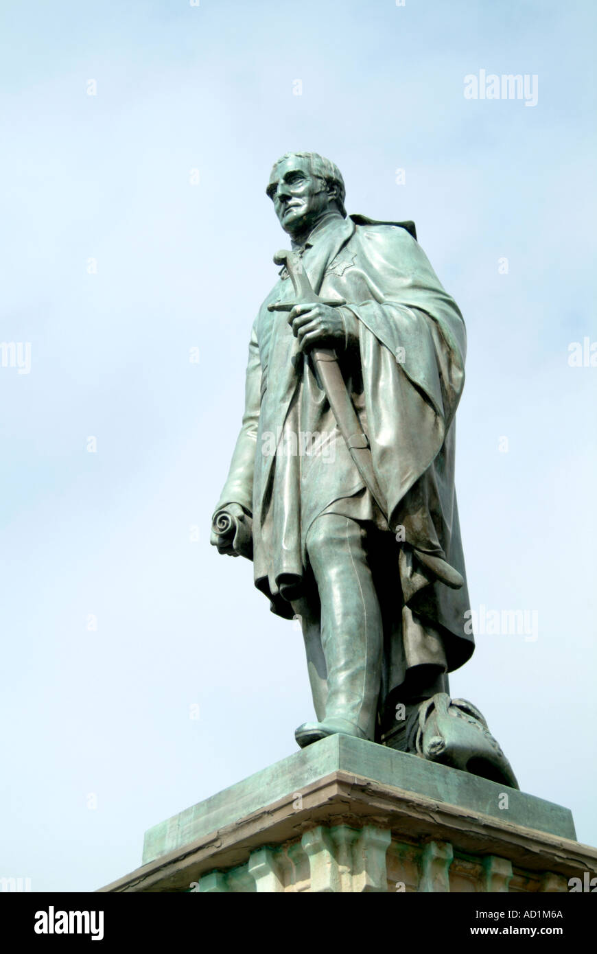 Statue of the Duke of Wellington Brecon Wales - Stock Image
