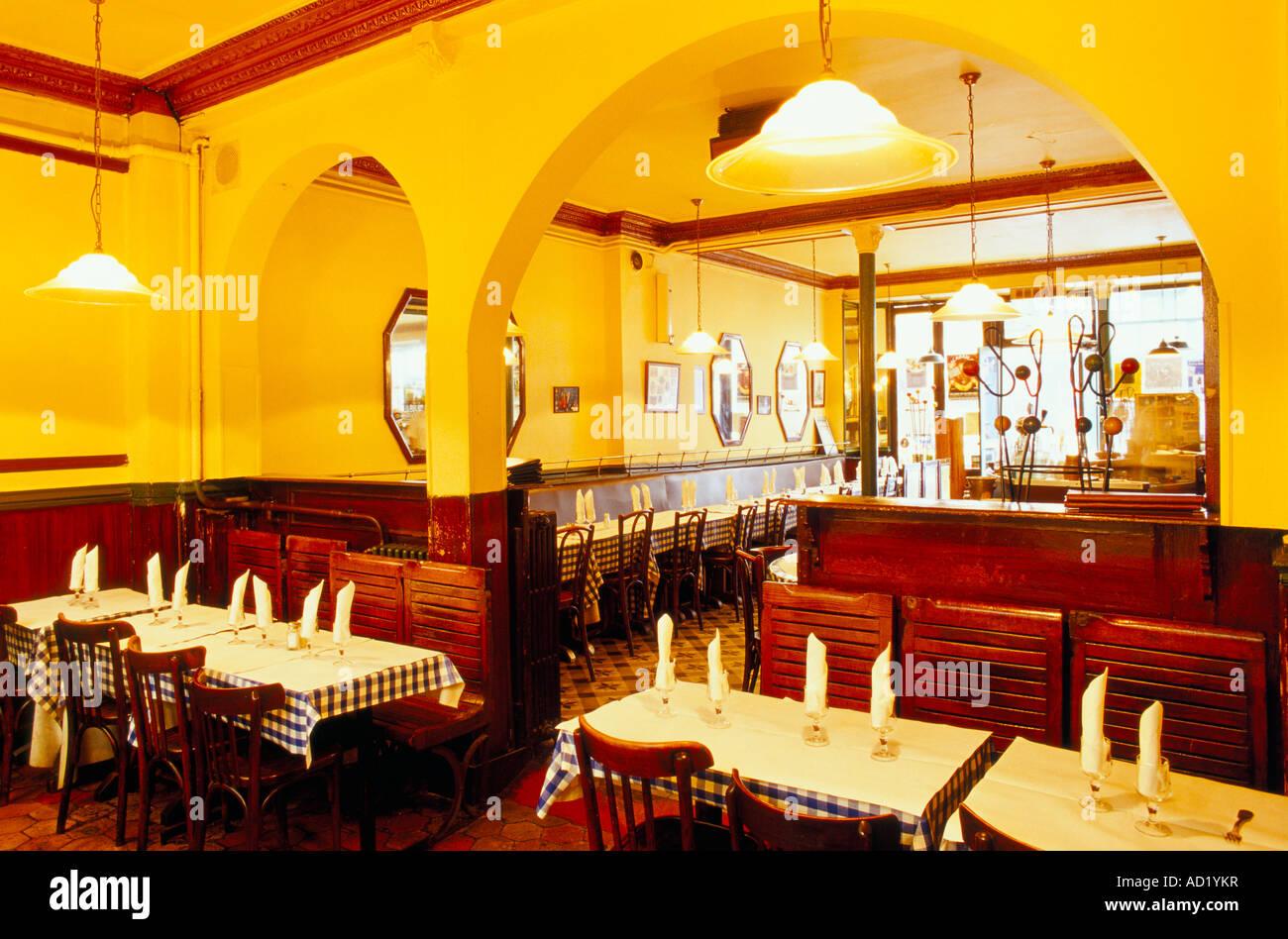 Interior of Cafe Moderne 19 Rue Keller Rue Keller is a trendy Stock ...
