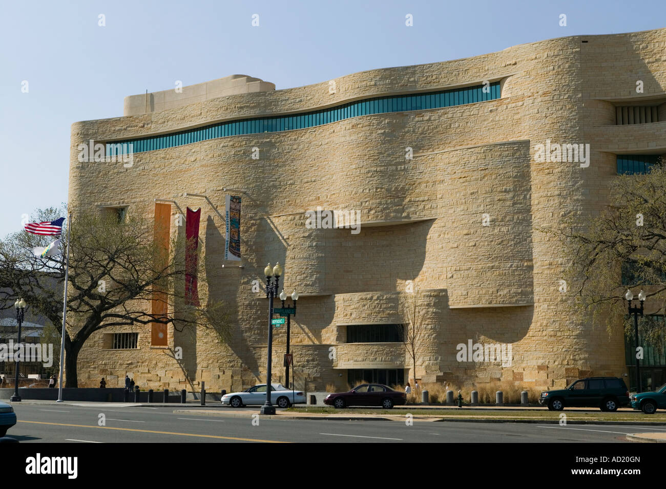 Smithsonian National Museum of the American Indian Washington DC District of Columbia - Stock Image
