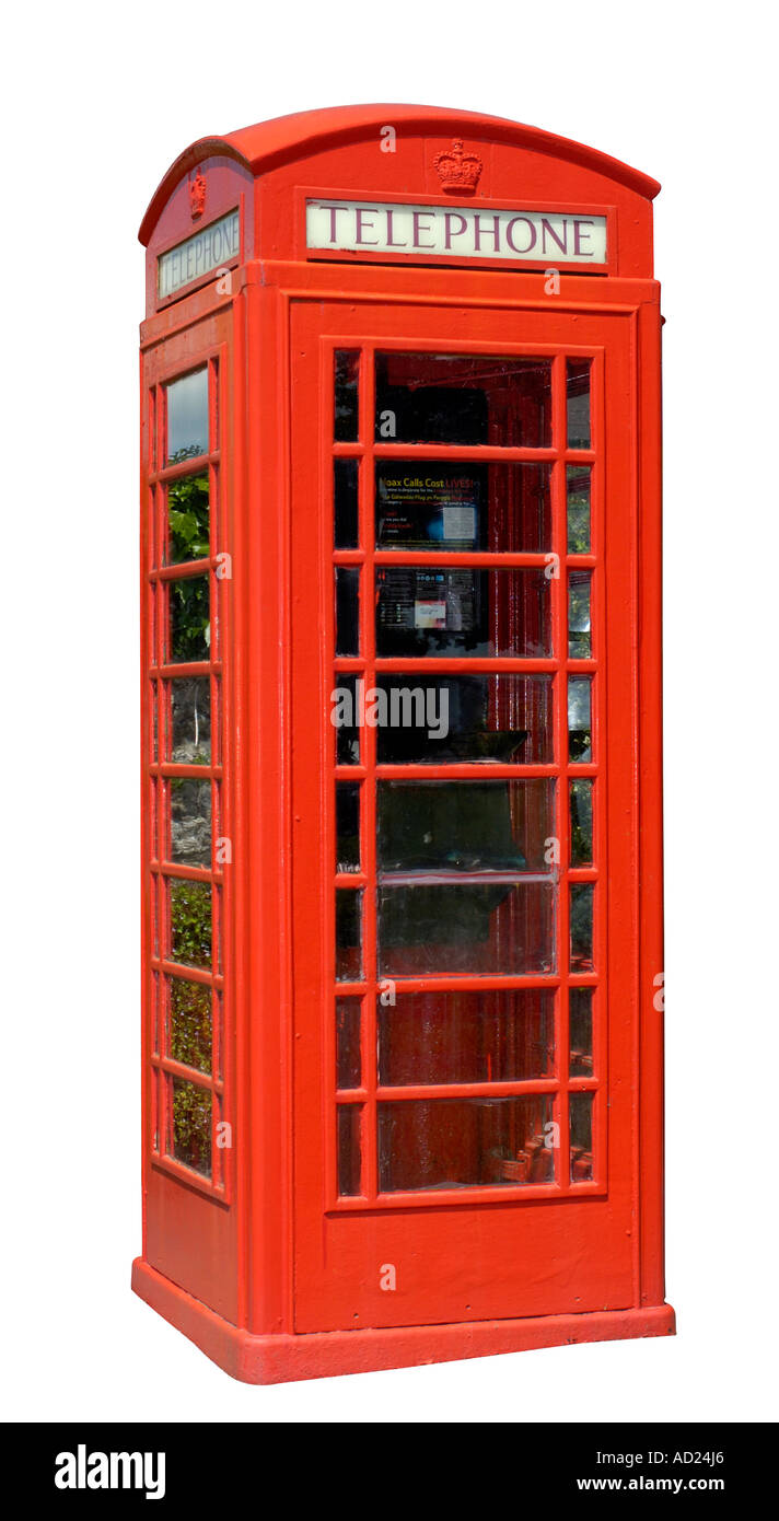 A well-kept British phone box. - Stock Image